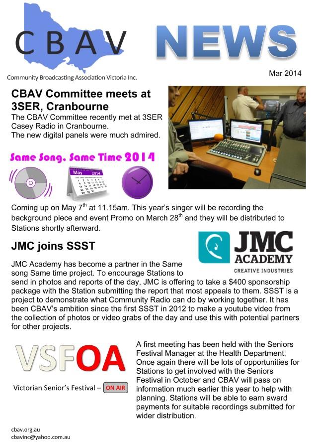 CBAV News - Mar 2014