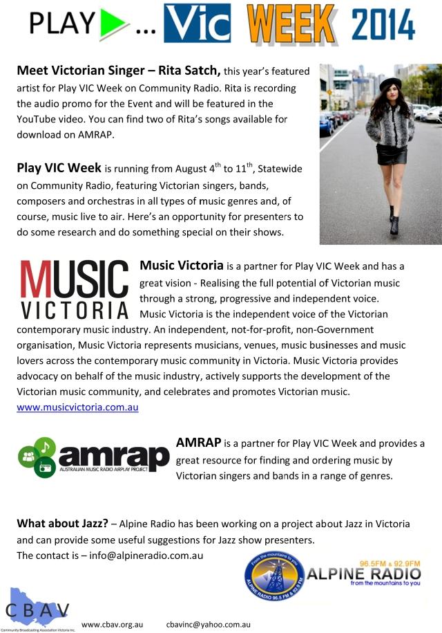 Microsoft Word - Play VIC Week 2014 - Update 1